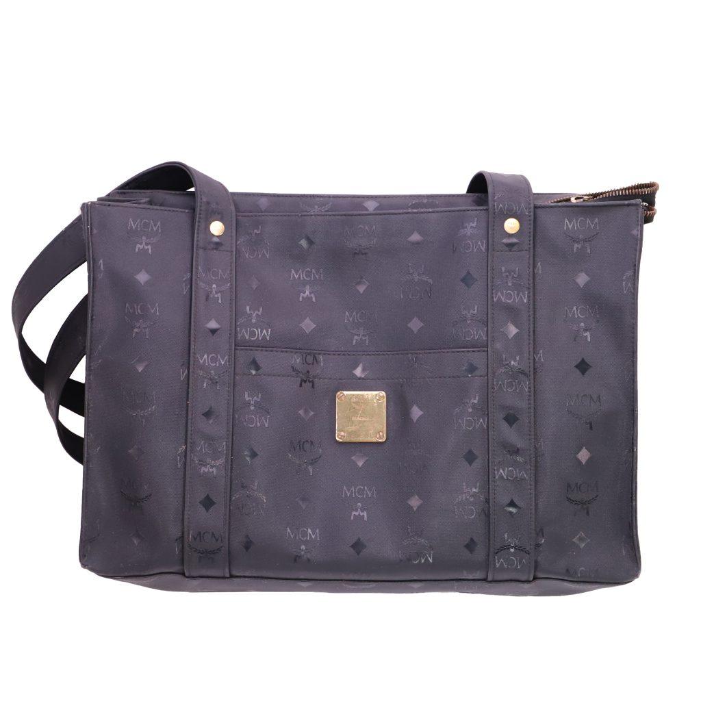 MCM nylon semi-shoulder tote bag