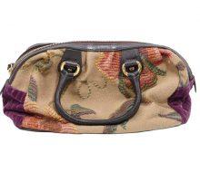 エトロ 刺繍キャンバス ハンドバッグ