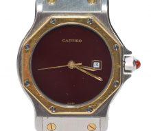 カルティエ サントスオクタゴン メンズ自動巻時計